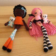 вязаные куклы с длинными ножками крючком схемы