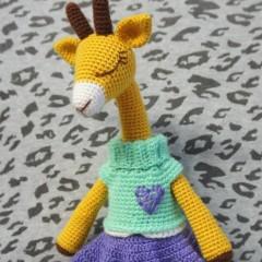 игрушки амигуруми крючком жираф