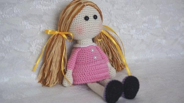 кукла милашка крючком схема