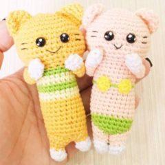 пляжные котики амигуруми крючком схемы игрушек