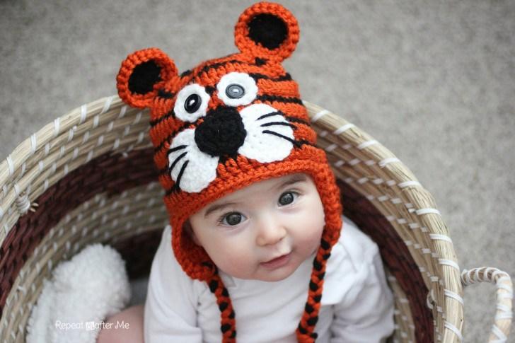 Вязаная шапочка крючком: схема тигренка, описание