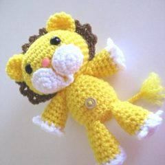 лев амигуруми крючком схема вязаной игрушки