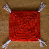 Подушка крючком для игрушки амигуруми