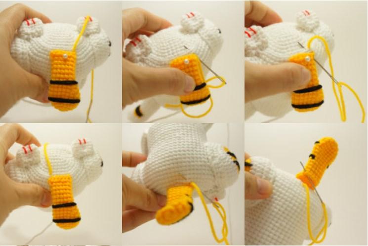 Сборка вязаной игрушки крючком