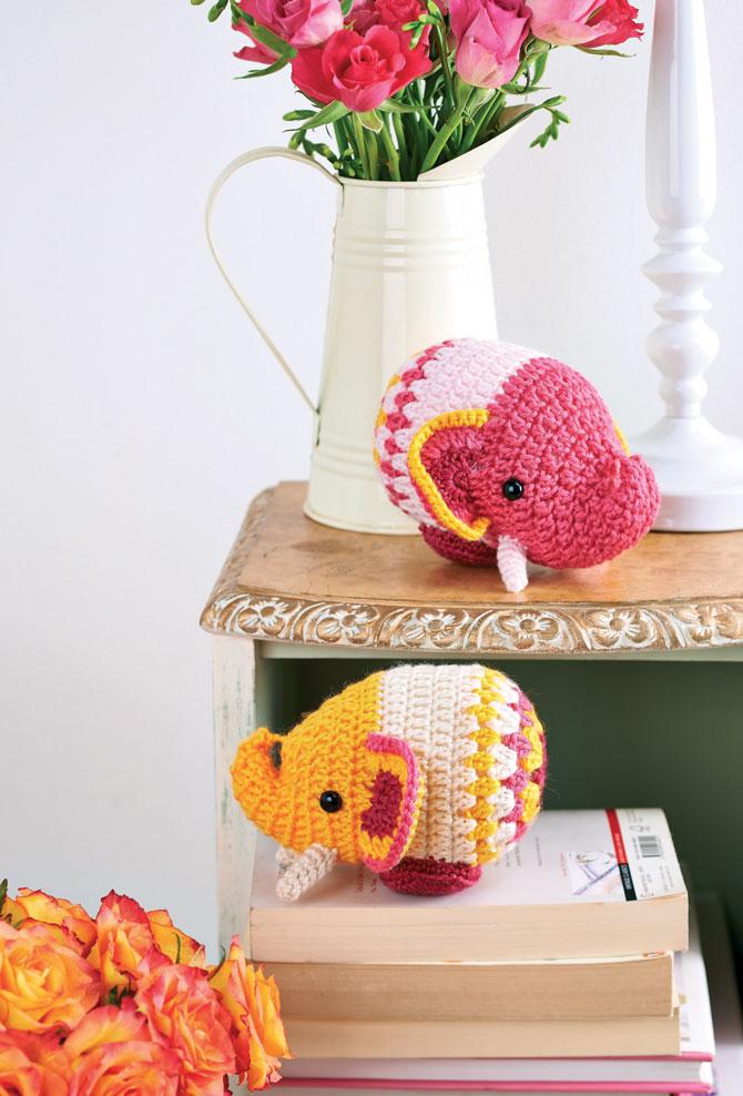 Слон амигуруми схема вязаной игрушки крючком