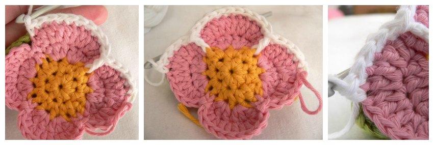 Цветочный пазл мяч крючком вязание