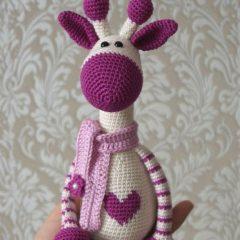 амигуруми жираф схема вязаной игрушки крючком