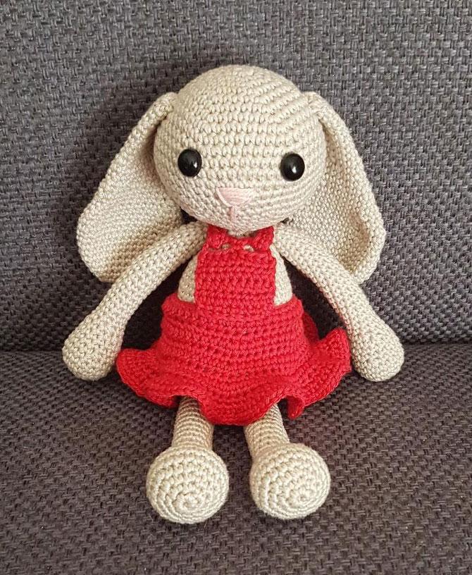 Амигуруми зайка Дженни схема вязания игрушки крючком