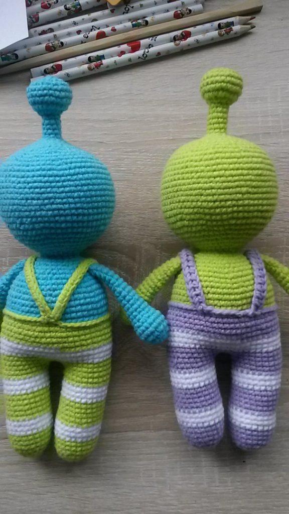 Вязаная игрушка инопланетянин схема вязания амигуруми крючком
