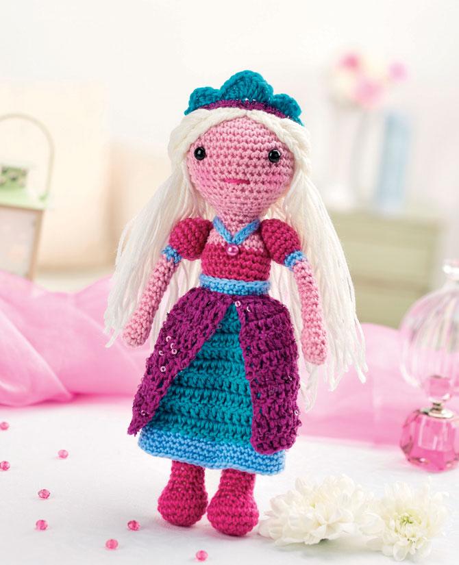 Вязаная кукла принцесса схема амигуруми крючком