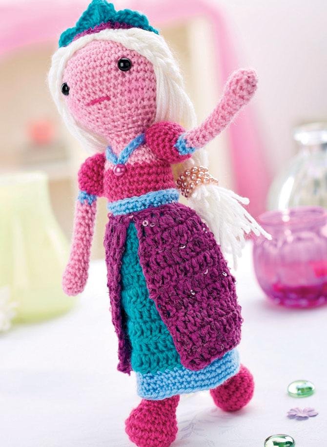 Вязаная кукла принцесса схема вязания амигуруми крючком