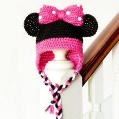 вязание крючком схемы детская шапка Минни Маус