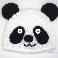 вязание крючком схемы шапочка панда
