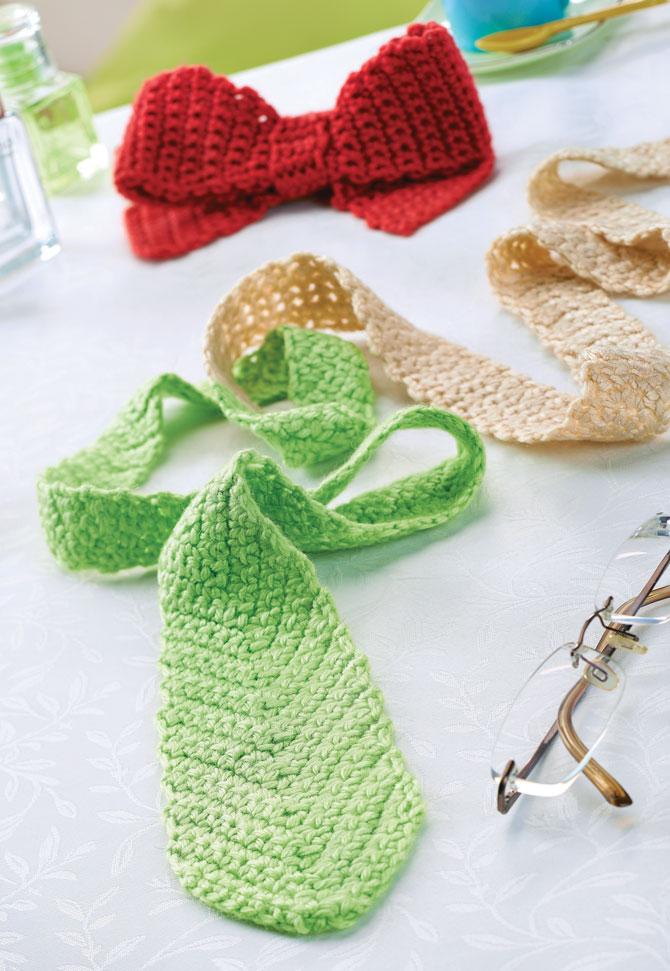 Вязаный галстук бабочка крючком схемы вязания