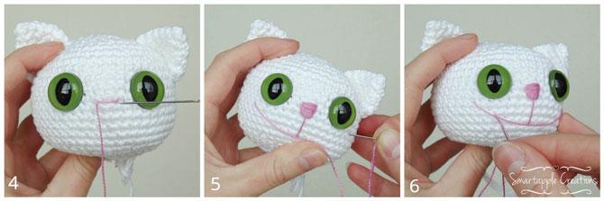 Котята амигуруми схемы вязания игрушек крючком, описание