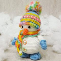 амигуруми снеговик крючком схема вязаной игрушки
