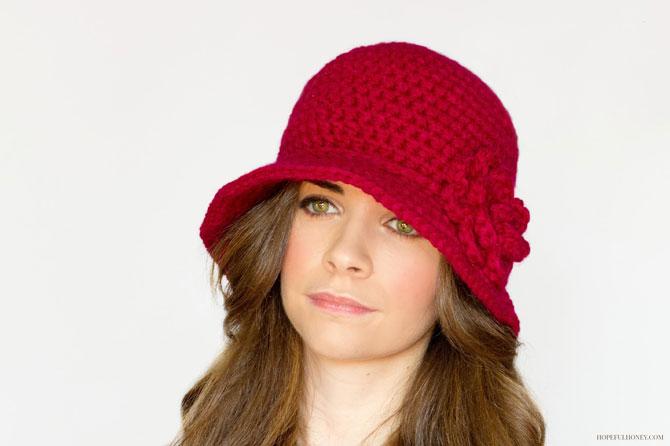 Вязаная дамская шляпа крючком схема как связать