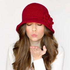 вязание крючком схемы дамская шляпа