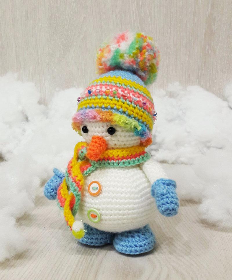 Вязаный снеговик крючком: схема амигуруми