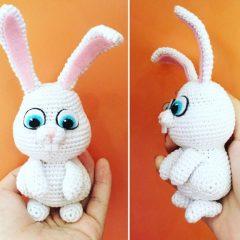 кролик снежок схема вязаной игрушки крючком