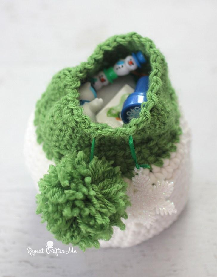 Мешочек снеговик крючком схема вязания мк