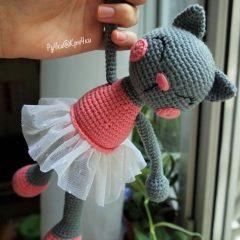 Амигуруми кошка балерина схема вязаной игрушки крючком