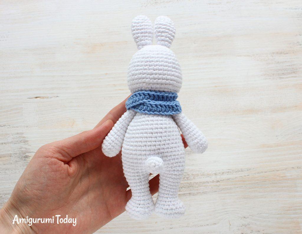 Заяц-обнимашка - схема амигуруми