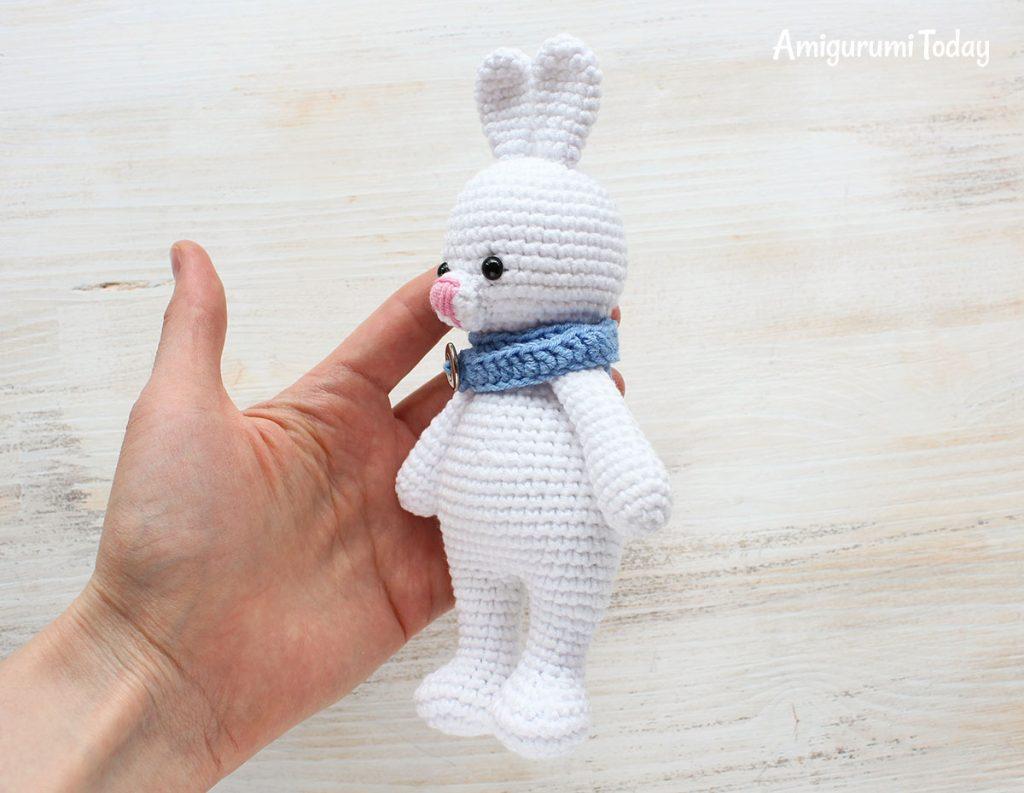 Заяц-обнимашка - схема вязания игрушки амигуруми крючком