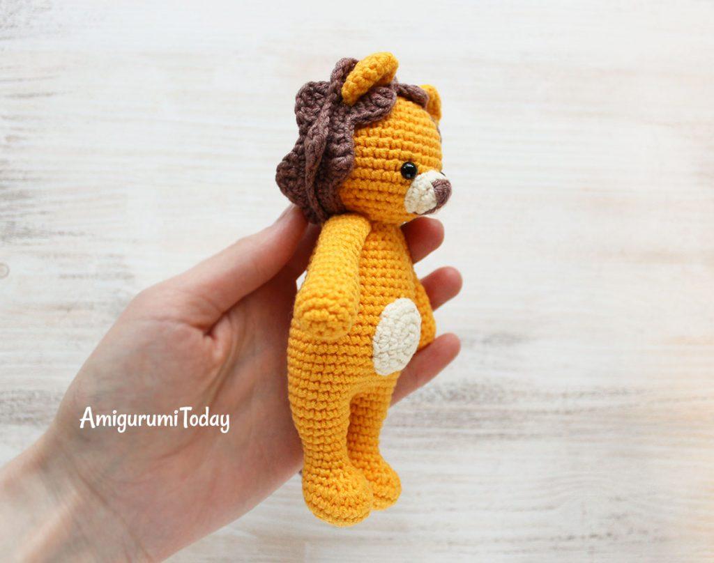 Лев-обнимашка - схема вязания амигуруми крючком