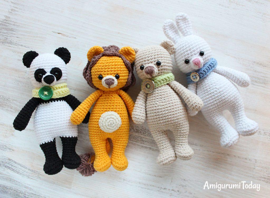 Лев-обнимашка - схема вязания игрушки
