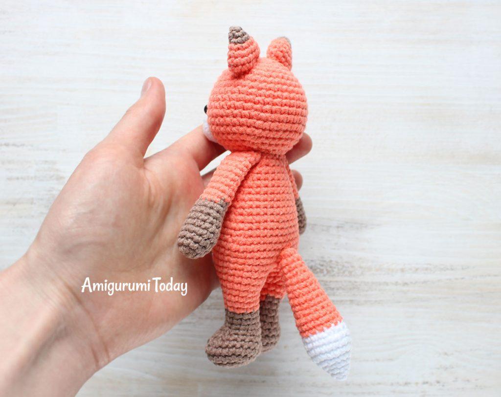 Лисенок-обнимашка - схема амигуруми крючком