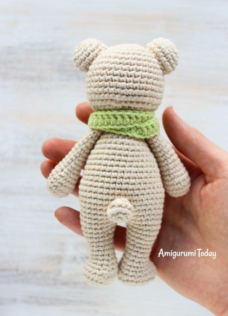 Медвежонок-обнимашка - схема вязания амигуруми крючком