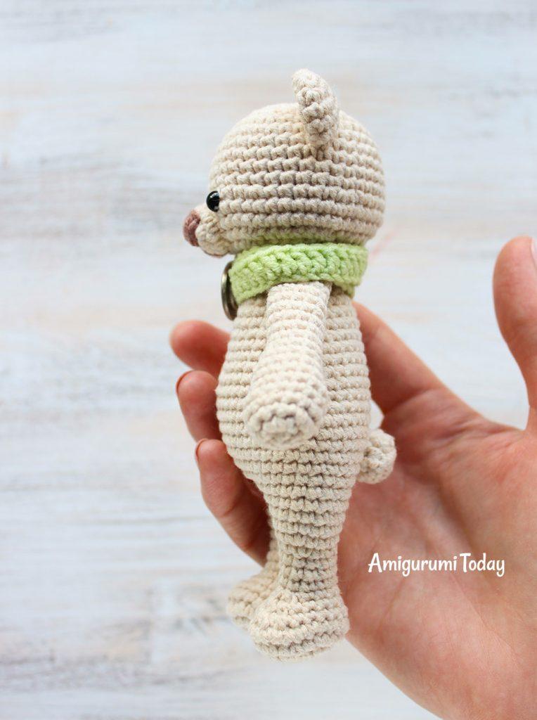 Медвежонок-обнимашка - схема вязания игрушки амигуруми крючком