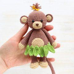 Обезьянка-обнимашка - описание вязаной игрушки амигуруми