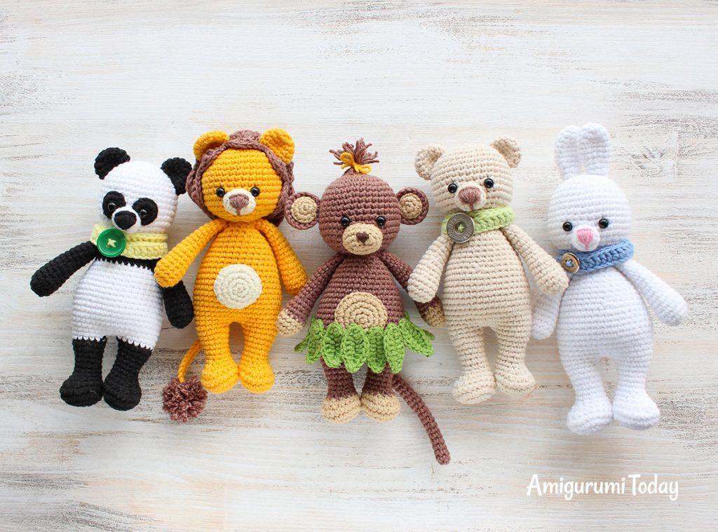 Обезьянка-обнимашка -схема амигуруми игрушки