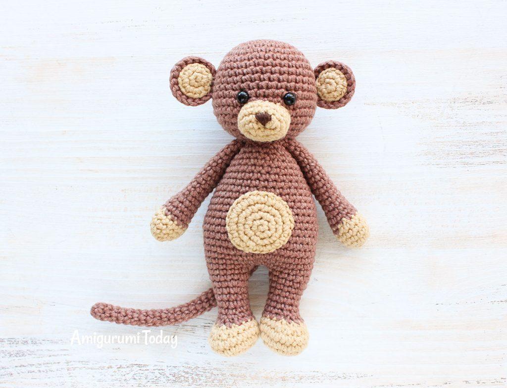 Обезьянка-обнимашка -схема вязания игрушки