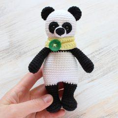 Панда-обнимашка - схема вязания игрушки амигуруми крючком