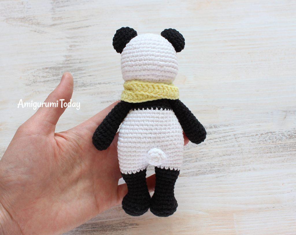Панда-обнимашка - схема вязания