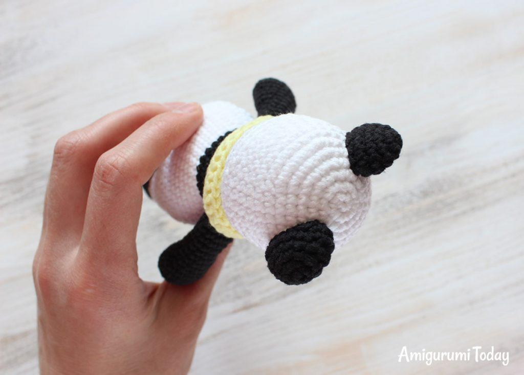 Панда-обнимашка - схема игрушки крючком