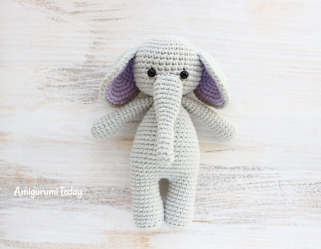 Слоник-обнимашка - схема амигуруми