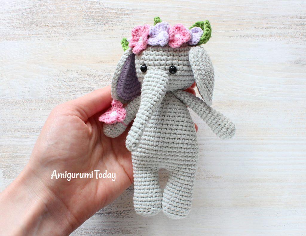 Слоник-обнимашка - схема вязания крючком