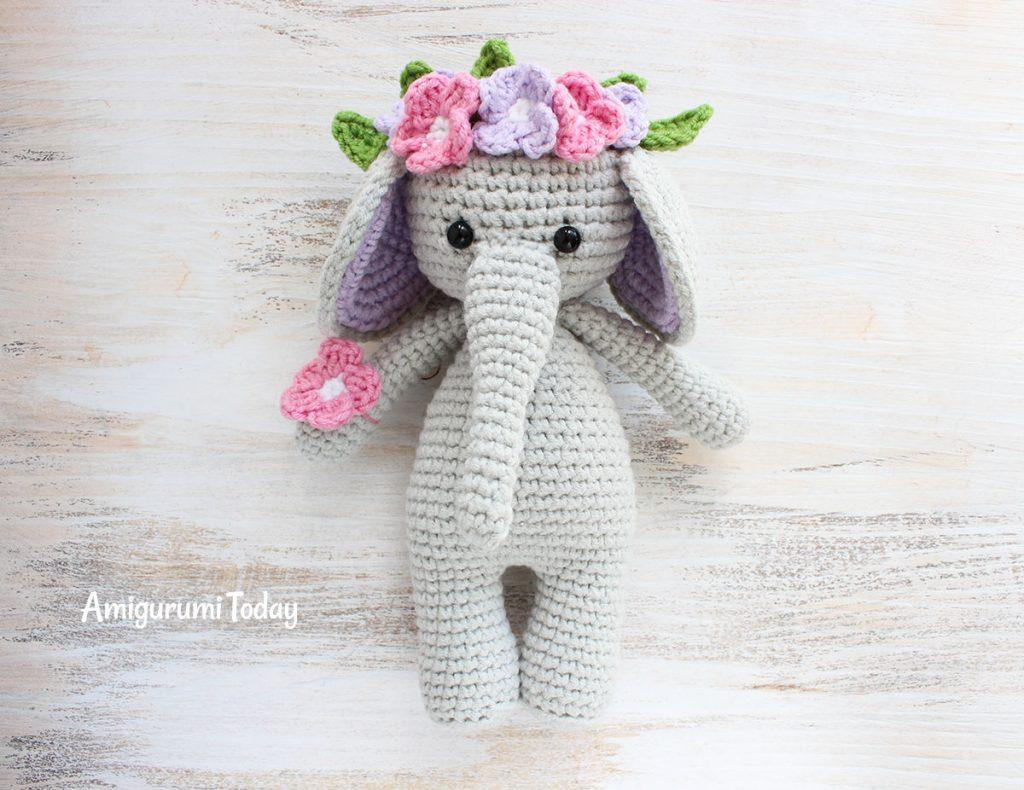 Слоник-обнимашка - схема вязания