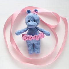 Амигуруми бегемотик - Схема вязаной игрушки описание