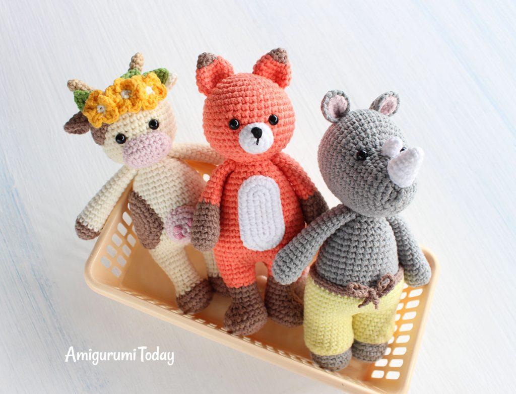 Амигуруми носорог крючком - схема вязания игрушки