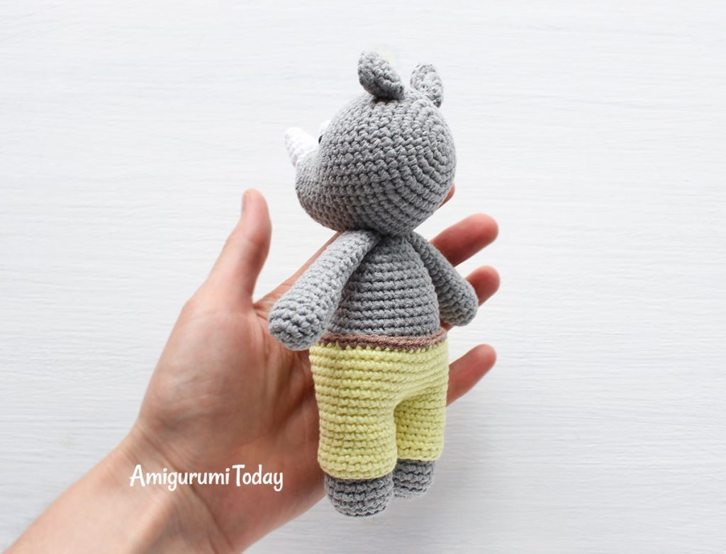 Амигуруми носорог крючком схема
