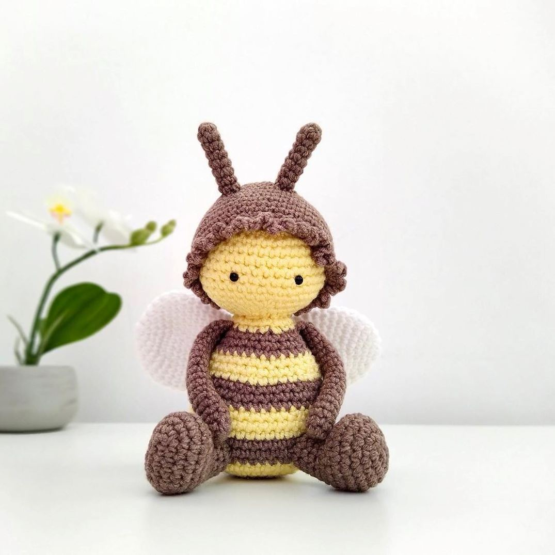 Амигуруми пчела крючком описание вязание